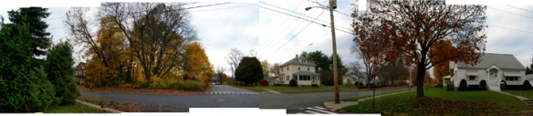 Panoramic view of our neighborhood looking west down Charles St.