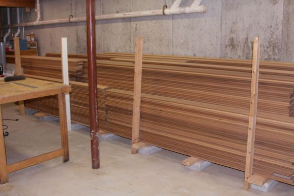 Cedar in seller's basement