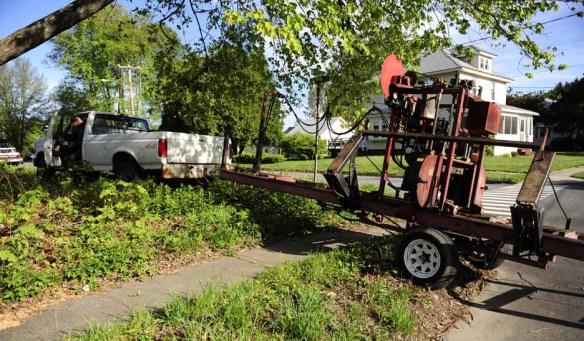 Sawmill arriving