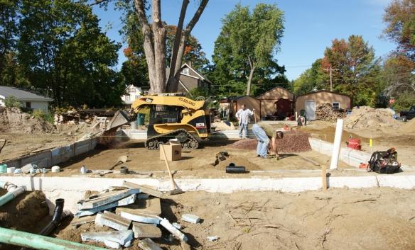 Working on sub-slab rough in plumbing