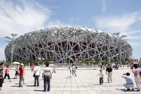 Birds nest for the 2008 Olympics; Beijing China by Herzog & de Meuron