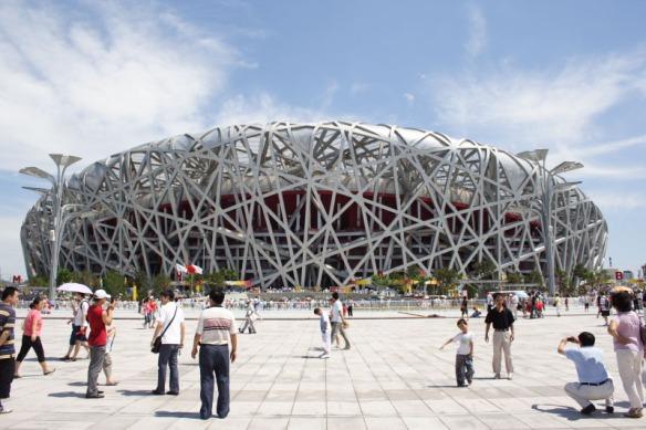 Birds nest for the 2008 Olympics; Beijing China by Herzog & de Meuron