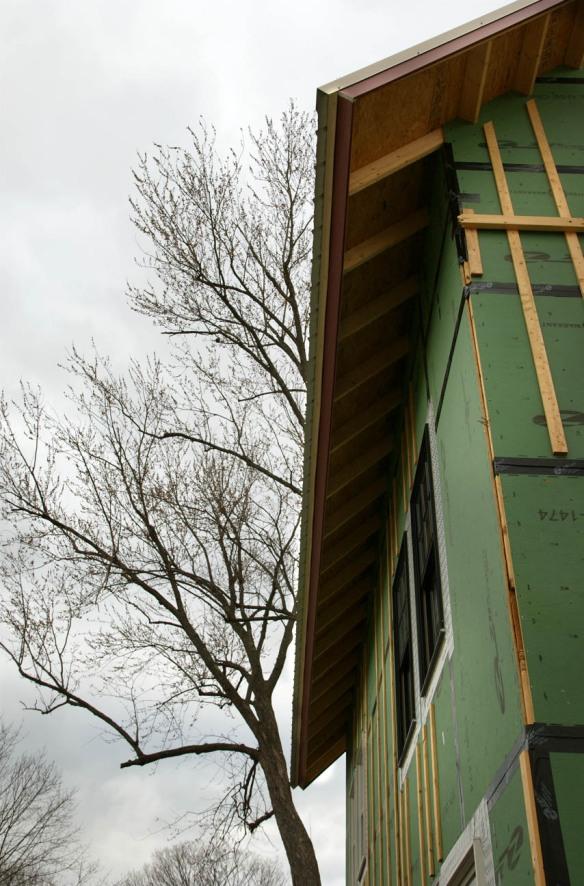 Underside of eave overhang