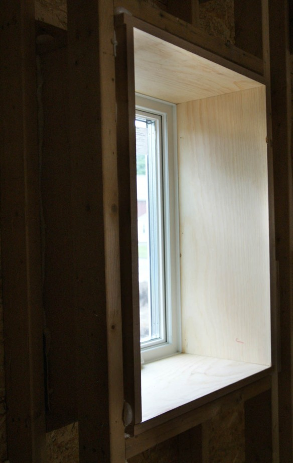 Mudroom window extension jamb