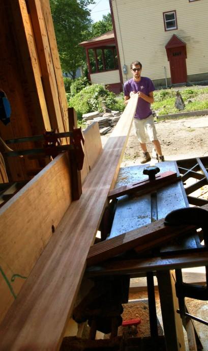 Rabbetting trim boards