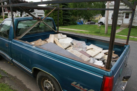 Truck load of granite counter top scrap