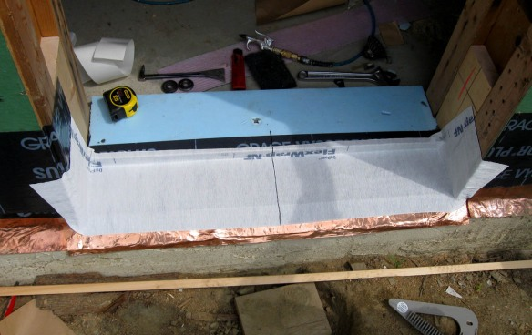 Exterior door sill pan and flashing detail 1