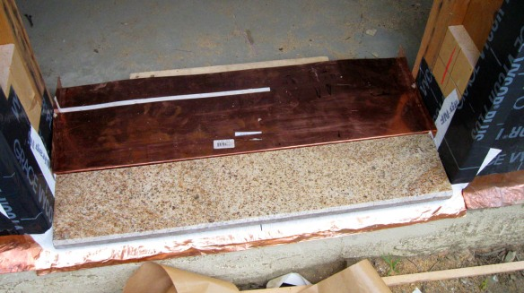 Exterior door sill pan and flashing detail 2