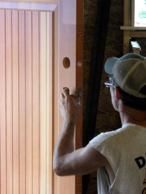Installing a door lock