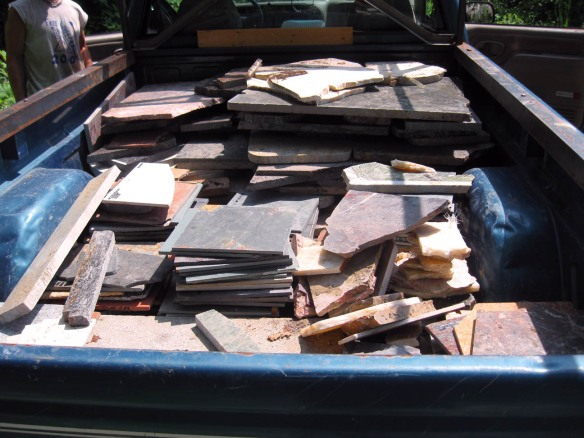 truck load of granite counter scrap