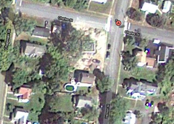Google maps satellite 10 Charles st Aug 2010