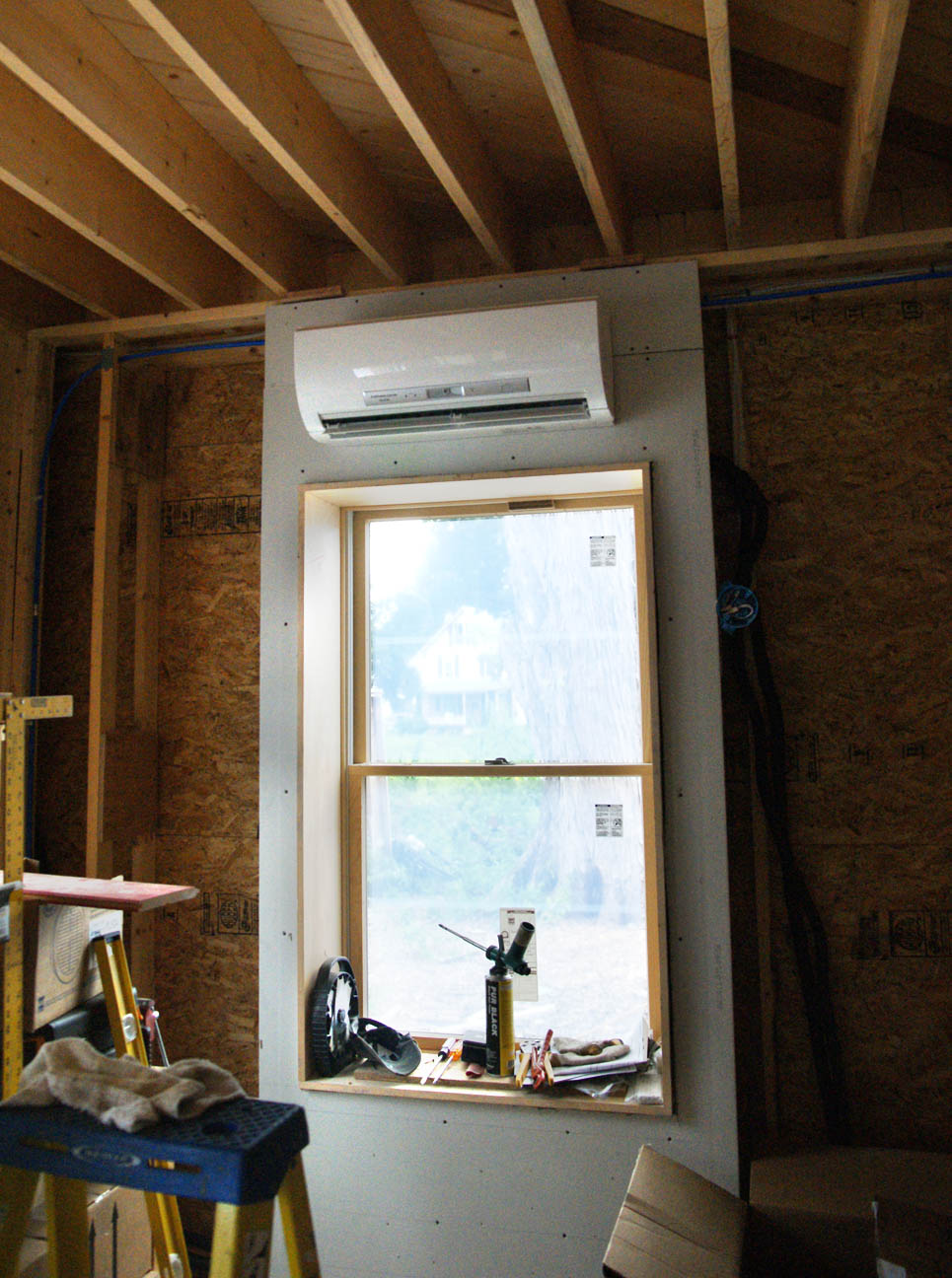 Mitsubishi Ductless Heat Pump Ductless Minisplit Design Amp Construction Of Spartan Amp Hannah39s Home