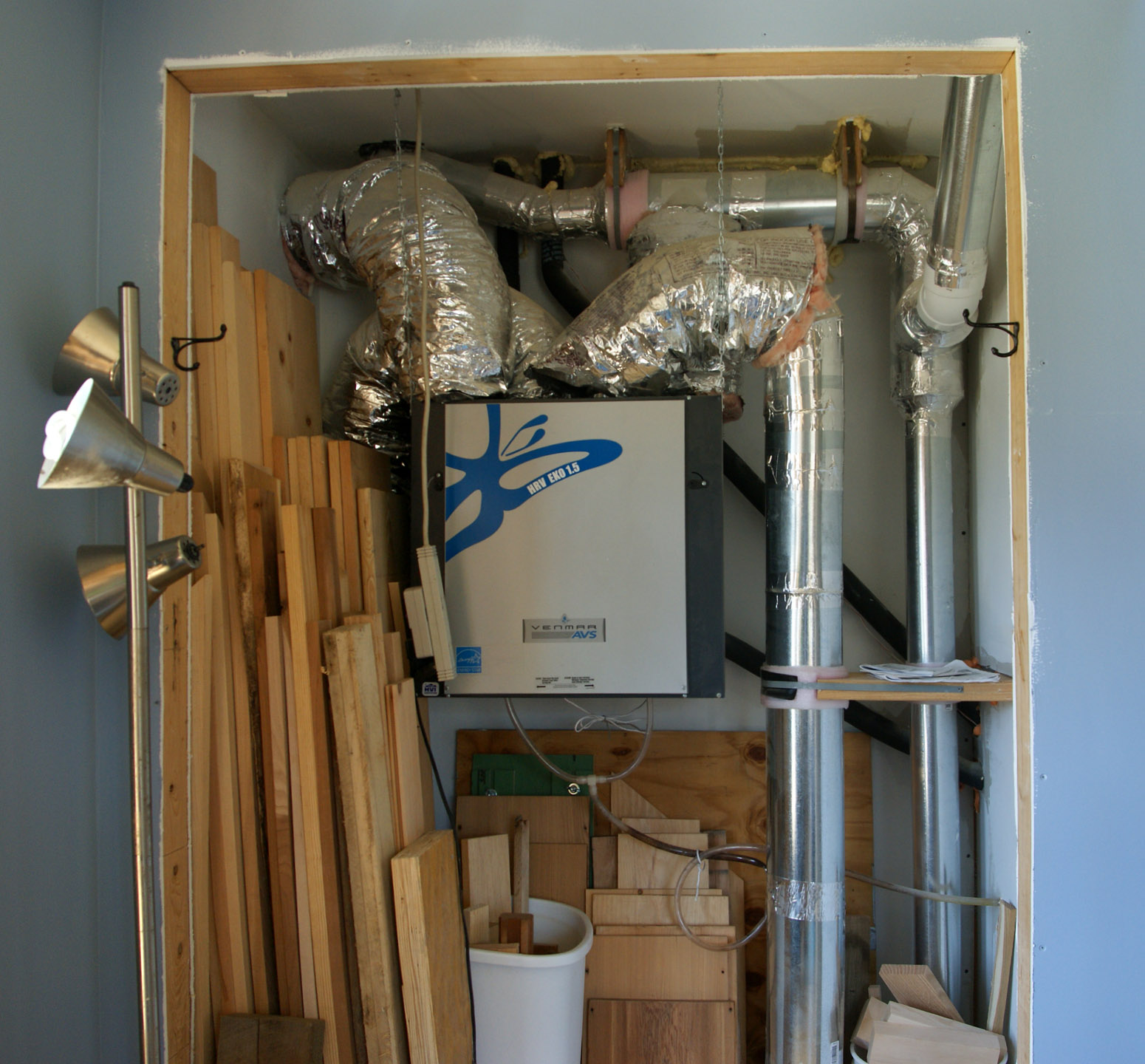 ductwork | design & construction of spartan & hannah's home