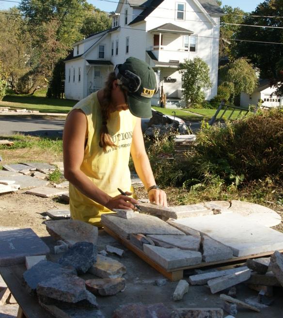 Sarah designing a square