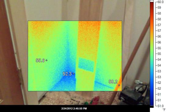 Floor of mudroom Infrared image