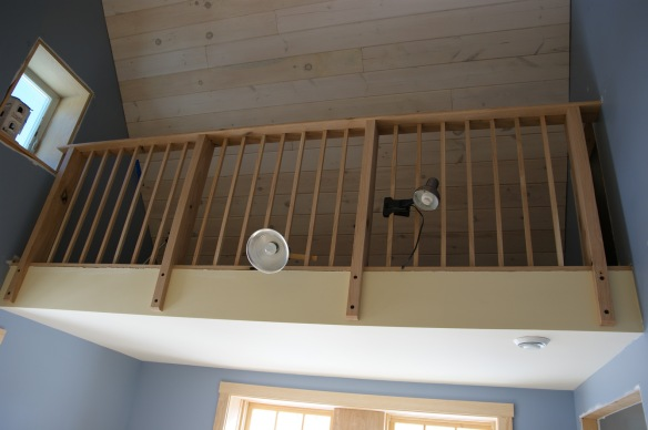 Adam and I built this railing out for the loft entirely out of red oak milled up from our own trees