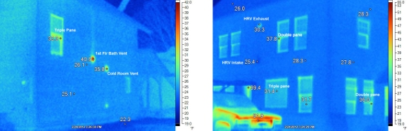 Heat loss Infrared images