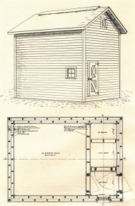 Early super-insulated design ice house