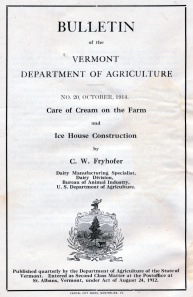 VT Dept of Agric Bulletin Cover