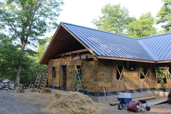 Strawbale Timberframe Home With Standing Seam Roof